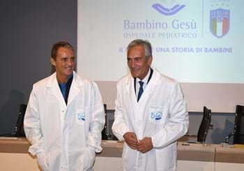 FIGC is by the side of kids in hospital: today the Azzurri will visit the Bambino Gesù Hospital