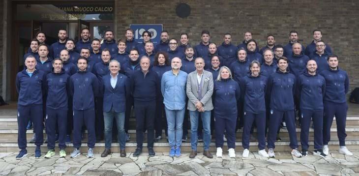 Ultime ore di lezione del 2019: in aula a Coverciano allievi preparatori e allenatori UEFA A