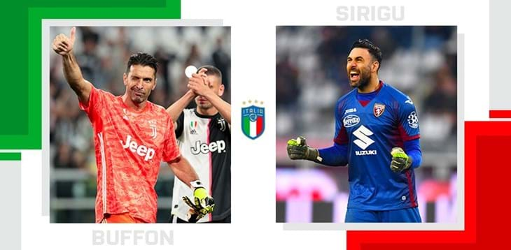 The statistical head-to-head of Serie A matchday 30: Gianluigi Buffon vs. Salvatore Sirigu