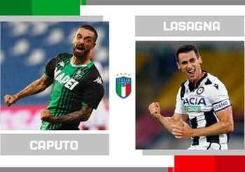 The statistical head-to-head for matchday 38 in Serie A: Francesco Caputo vs. Kevin Lasagna