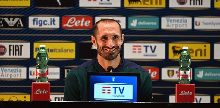 """Chiellini back with the Azzurri: """"A great feeling, I needed to be back in these colours"""""""