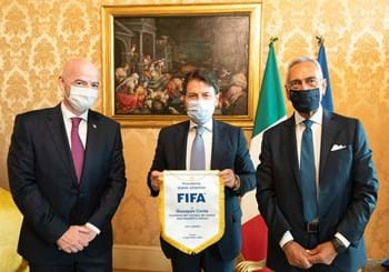 "Infantino at the FIGC's headquarters: ""The whole world is filled with admiration for how Italy responded"""