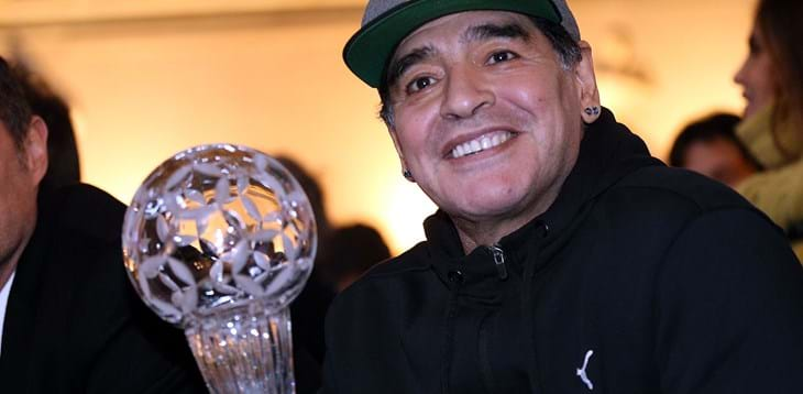 "The football world mourns the passing of Maradona, one of the all-time great champions. Gravina: ""His footballing genius was a work of art that will forever remain etched in history"""