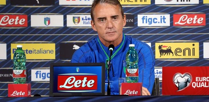 "Euro 2020 qualifying. Mancini: ""Italy need to be at their best against Bosnia"""