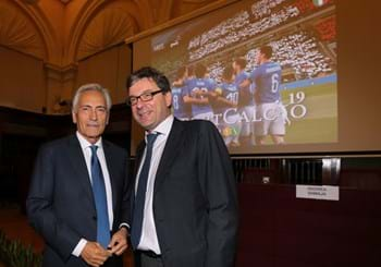 "The ninth 'ReportCalcio' presented. Gravina: ""Italian football has enormous stature in our country"""