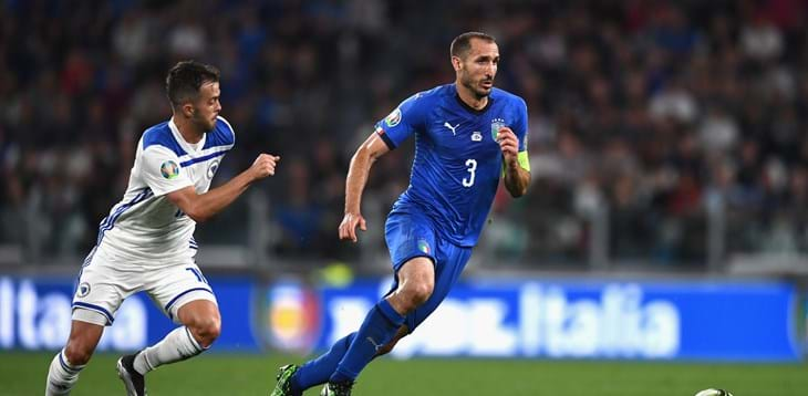 Giorgio Chiellini è l'unico italiano candidato al 'FIFA FIFPro Men's World11 2019'